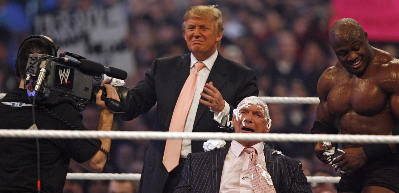 Trump op WrestleMania 23